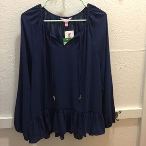 Lilly pulitzer navy top